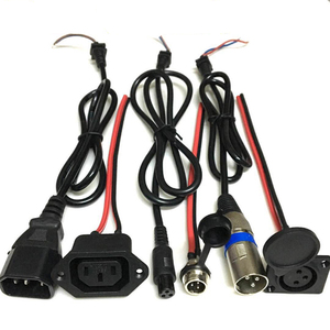 Image 1 - Lithium Li ion Battery eBike e bike Balance Car Charging Plug Socket Charger Interface Cable Wire Connector GX12 T type Canon