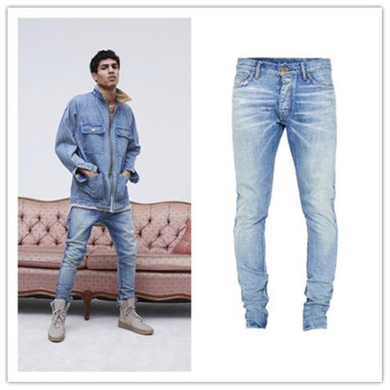 Slim feet jeans zip latéral stretch hommes jeans hommes tendance jeans slim sauvage nouveau jeans hommes 2019 mode jeans