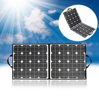 Outdoor camping hiking 100W 18V USB Solar Panel Folding Solar Solar Cells Charger For iPhone Tablets Laptop light
