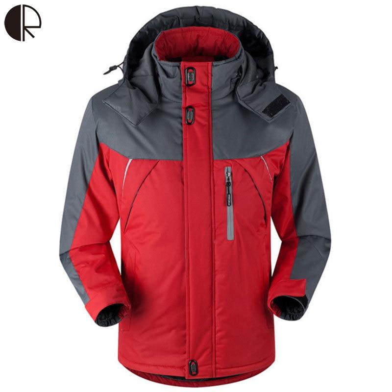 ФОТО jaqueta masculina thick Jackets Winter Mens Windproof Thermal Hood Parka Coats Outwear Windbreak MC1235