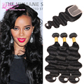 Ali Queen Hair With Closure Brazilian Hair Weave Bundles With Closure 8a Stema Hair Brazilian Body Wave With Closure Closures