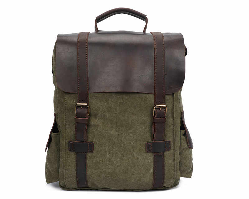 """Nesitu Высокое качество Винтаж Синий армейский зеленый хаки холст 14 """"ноутбук женские и мужские рюкзаки мужская дорожная сумка # M1820"""