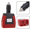 New Cigarette Lighter Power Supply 75W 12V DC to 220V AC Car Power Inverter Adapter with USB Charger Port