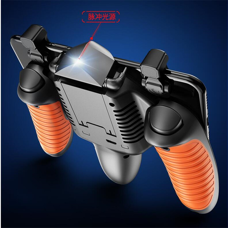 M16 For Pubg Controller Mobile Game Shooter Pubg Trigger Fire Button For IPhone Android Phone Gamepad Joystick with Cooler Fan in Gamepads from Consumer Electronics