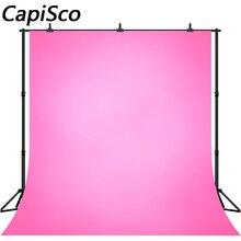 Capisco固体勾配ピンクのベビー子供の誕生日パーティー写真の背景の結婚式の写真の背景の写真