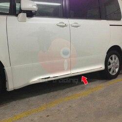 Embellecedor lateral de puerta de acero inoxidable JY 4 Uds SUS304 accesorios de estilo de coche para Toyota Voxy 70 2007-2010