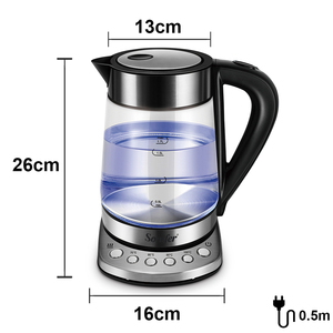 Image 5 - 1.7L Temperature cControl Electric Kettle Glass Transparent 2200W Household Quick Heating Electric Boiling Pot Sonifer