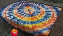 Original Unique Design / Shibori Tie dye Gorgeous Table Cloth adornment Handmade Arashi Arts Many Uses Mats pads Cover