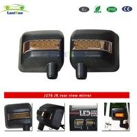 Пара J276 Стрелка Дизайн Черный ABS пластик wrangler JK внедорожных зеркала со светодио дный подходит для jeep 2007 +