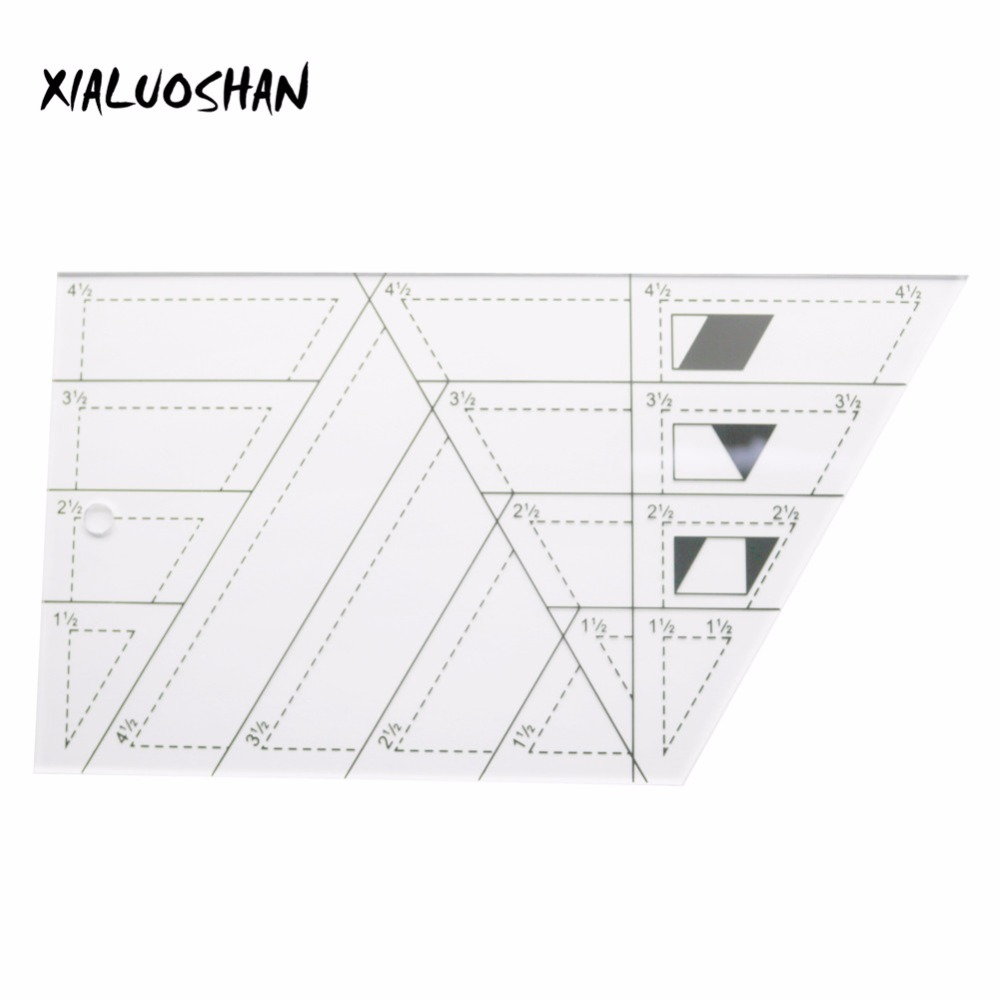 Drawing Ruler Tool Trapezoid Polygon Transparent Acrylic Sewing Patchwork Craft Scale Ruler Office School Supplies
