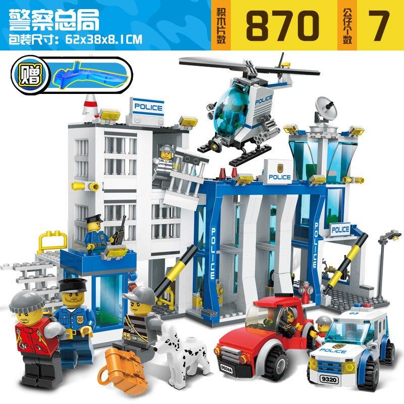 9320 870pcs SWAT/Police Constructor Model Kit Blocks Compatible LEGO Bricks Toys For Boys Girls Children Modeling