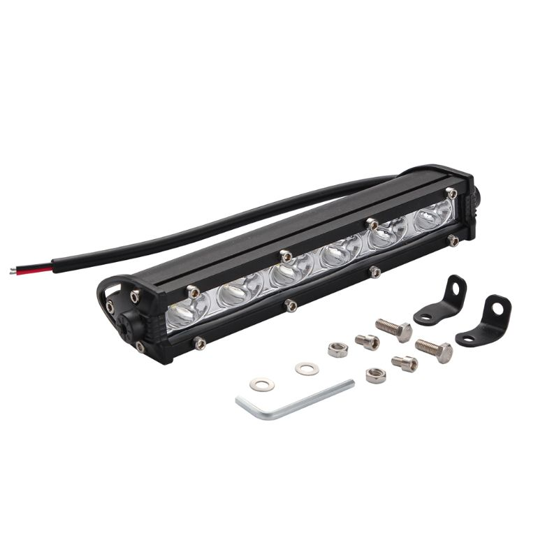 8inch 18W Automobile LED Light Bar Single Strip Spot Driving Illumination For Auto Off-Road Vehicles Truck Motor