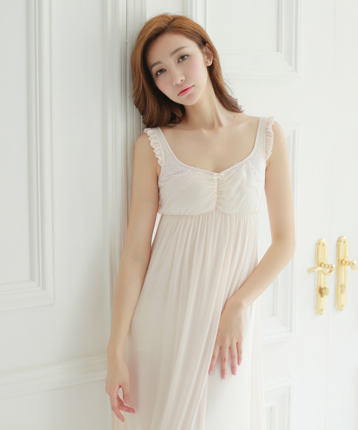 Free Shipping Lace Fairy Nightdress Women\'s Long Nightgown Nylon and ...