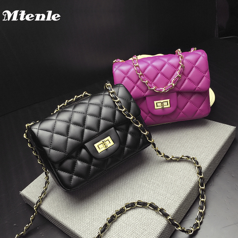 MTENLE Leather Quilted Bag Women Crossbody Shoulder Bags Lady Designer Brand Women Messenger Bags Small Girl Gold Balck Pink H