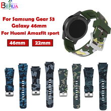 Sport Silicone Watchband for Samsung Gear S3 Classic Frontier 22mm WatchBand For Huami Amazfit strap Replacement Wristband