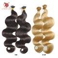 Envío libre grado 6a onda del cuerpo de remy del pelo 100g/pac 100 s u punta queratina fusión extensión del pelo humano 18 ''-24'' puede ser personalizado