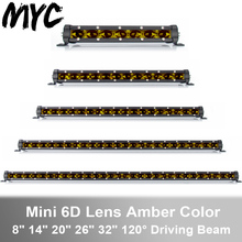 30W 60W 90W 120W 150W Single Row LED Light Bar For Driving Boat Motorcycle Car Truck 4x4 SUV ATV Jeep 12V 24V Led