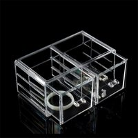 Desktop Clear Acrylic Cosmetic Organizer Makeup Storage Boxes Organizer Drawer Makeup Tools Jewelry Boxes Lipstick dropshipping