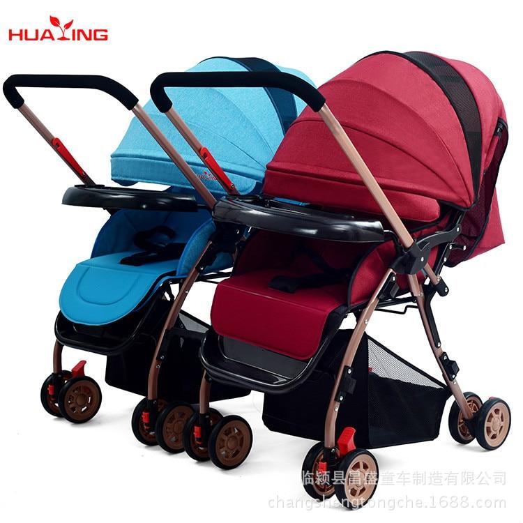 Twins, Stroller, High, Landscape, Foldable, Sitting