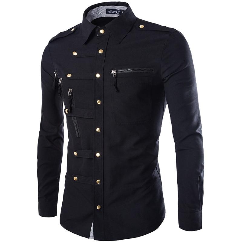 Brand Men Shirt 2020 Fashion Design Mens Slim Fit Cotton Dress Shirt Stylish Long Sleeve Shirts Chemise Homme Camisa Masculina