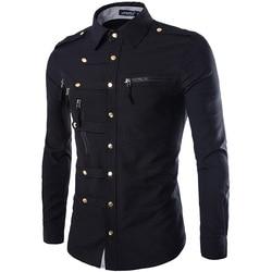 Brand Men Shirt 2015 Fashion Design Mens Slim Fit Cotton Dress Shirt Stylish Long Sleeve Shirts Chemise Homme Camisa Masculina