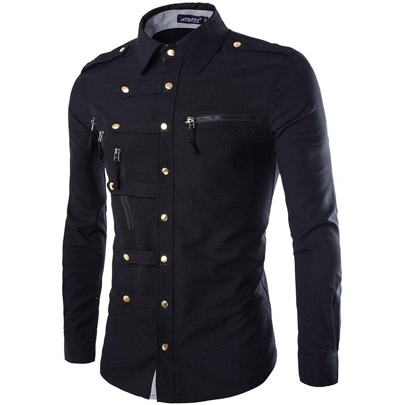 Marque hommes Chemise 2015 mode Design hommes coupe ajustée coton robe Chemise élégant à manches longues chemises Chemise Homme Camisa Masculina