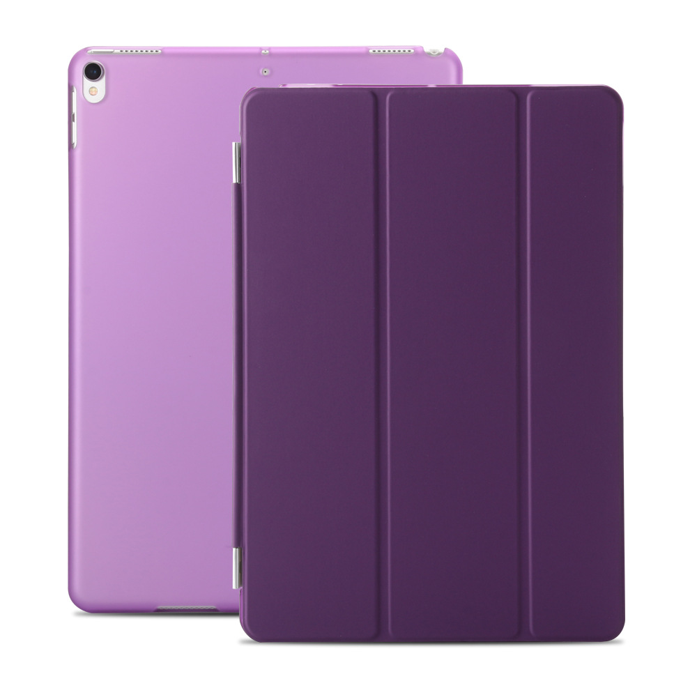 For Ipad Pro 10.5 Utra Slim PU Folio Magnetic Smart Case Translucent Back Cases For Ipad Pro 10.5 Inch Stand Matte Shell+Gift