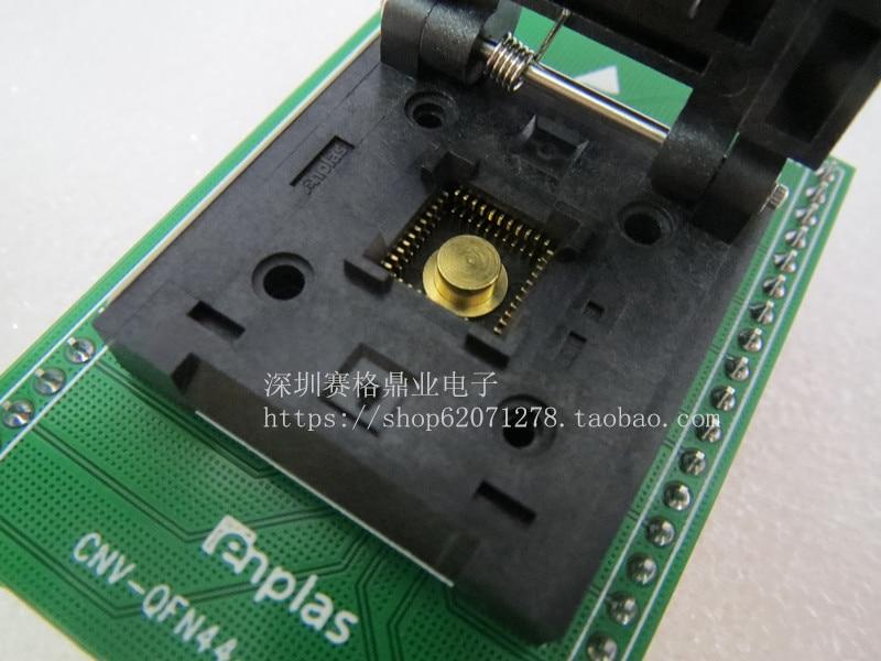 Clamshell QFN 44BT 0 65 01 ENPLAS QFN44 DIP44 8 8MM spacing 0 65mm IC Burning