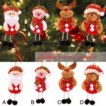 цена на 1 Pcs Christmas Decorations Santa Claus Ornaments Christmas Tree Decorations Christmas Festival Supplies Christmas Tree Pendant