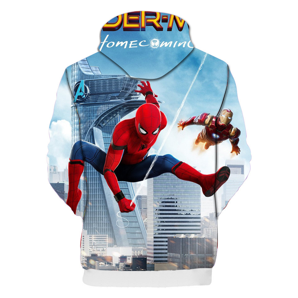 Homecoming Kid/'s Hoodie Cosplay Pullover Sweatshirt Kid Coat Spider-Man
