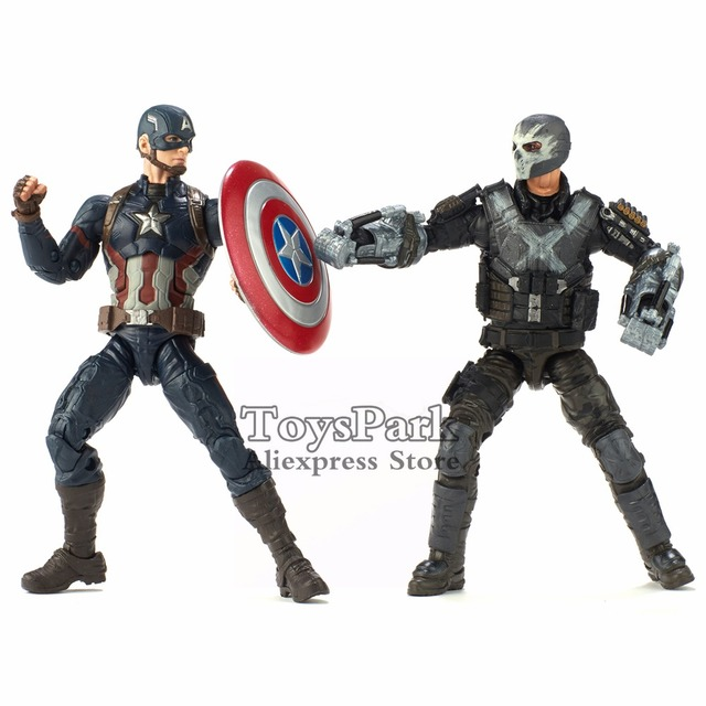 Marvel Legends 10th Anniversa 6″ Captain America & Crossbones 2 Pack Set Action Figure Marvel Studios Civil War First Ten Years