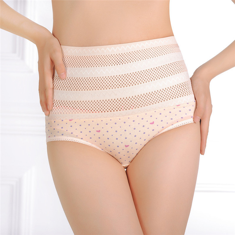 1pswomen's wysokiej talii majtki brzucha po porodzie matki bliscy underwear kontrola brzucha body shaper figi l-xxl nago/różowy 5