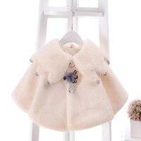 1-3yrs Sonbahar Kış Çocuklar Şal Ceket Yenidoğan Bebekler Kalın Sıcak Kabanlar Bebek Kız Turn-down Yaka Pelerin Çocuk Ceketler