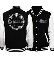 Games Of Thrones Mens Jacket 2017 Spring Autumn Hoodies Hip Hop Streetwear Tracksuit Brand Clothing Men