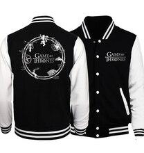 Games Of Thrones mens jacket 2017 spring autumn hoodies hip hop streetwear tracksuit brand clothing men and women hoodie mma
