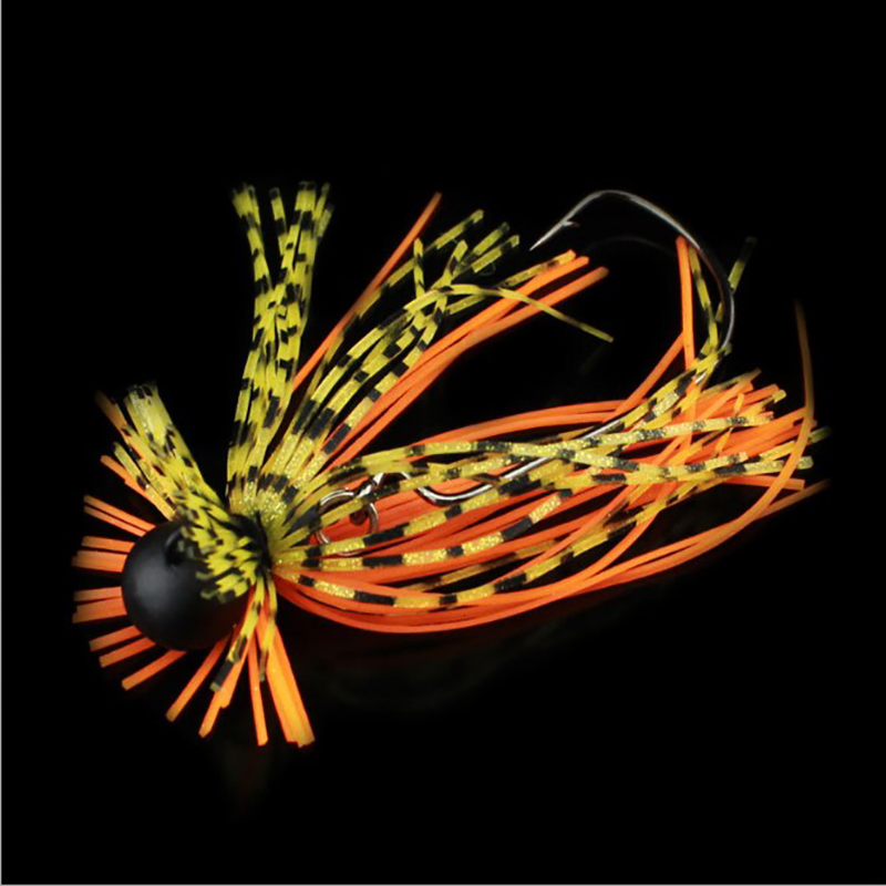 New customized lead jig head with rubber tail of fishing lure spinner baitsProduct Name: Lead hooks whiskers