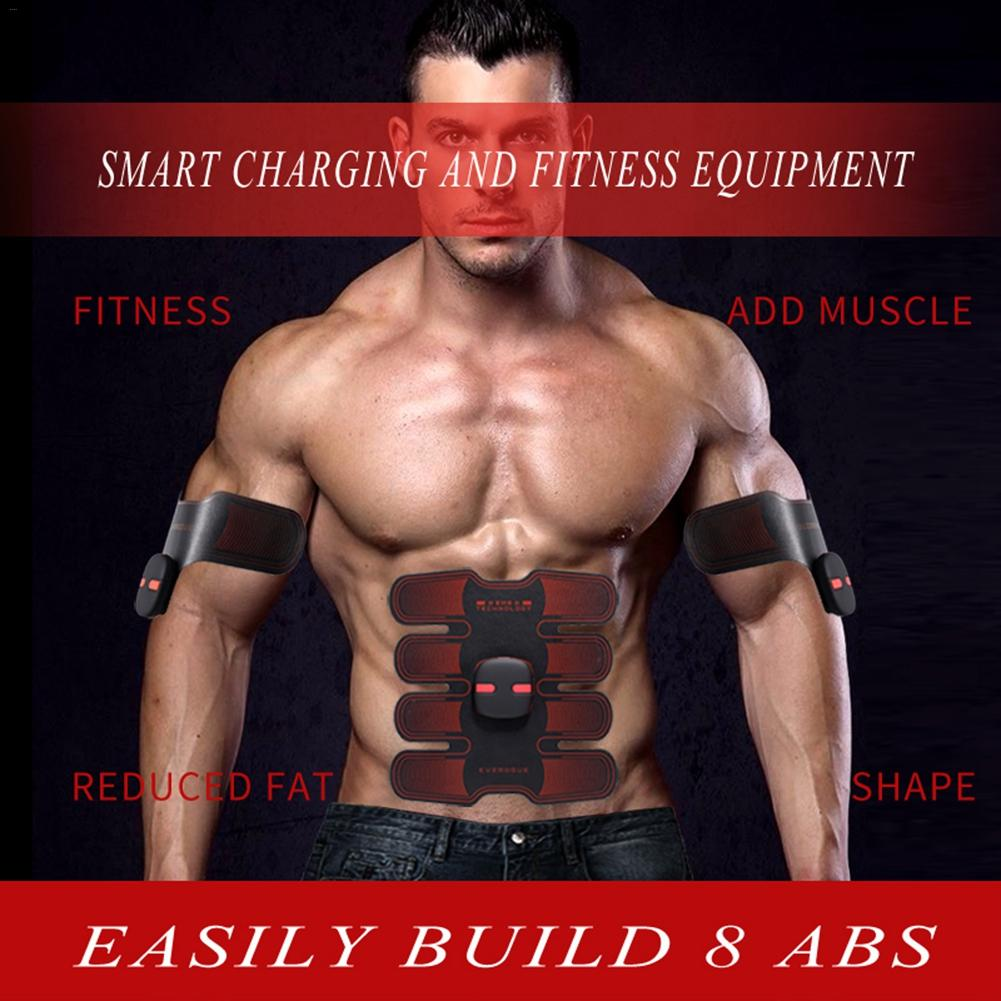 Upgraded Version EMS Abdominal Muscles Training Machine Wireless Abdominal Fitness Device Charging Smart Portable Muscle Trainer
