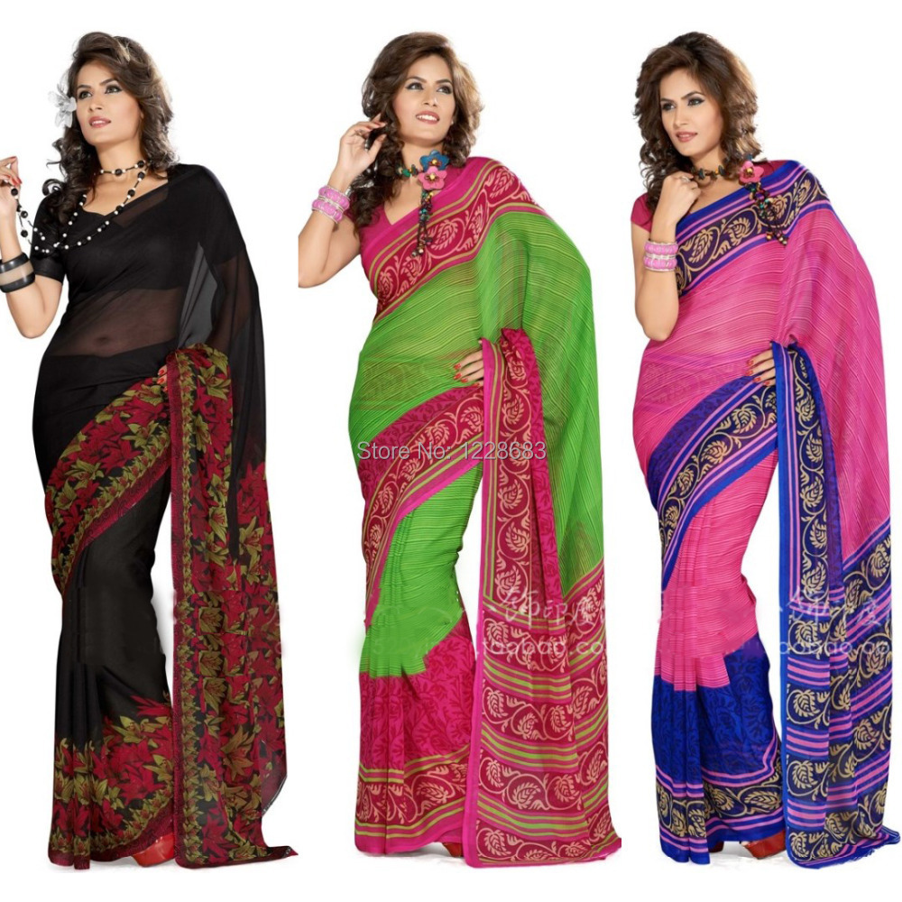 Buy indian saree custom made black - Comprar ropa en portugal ...