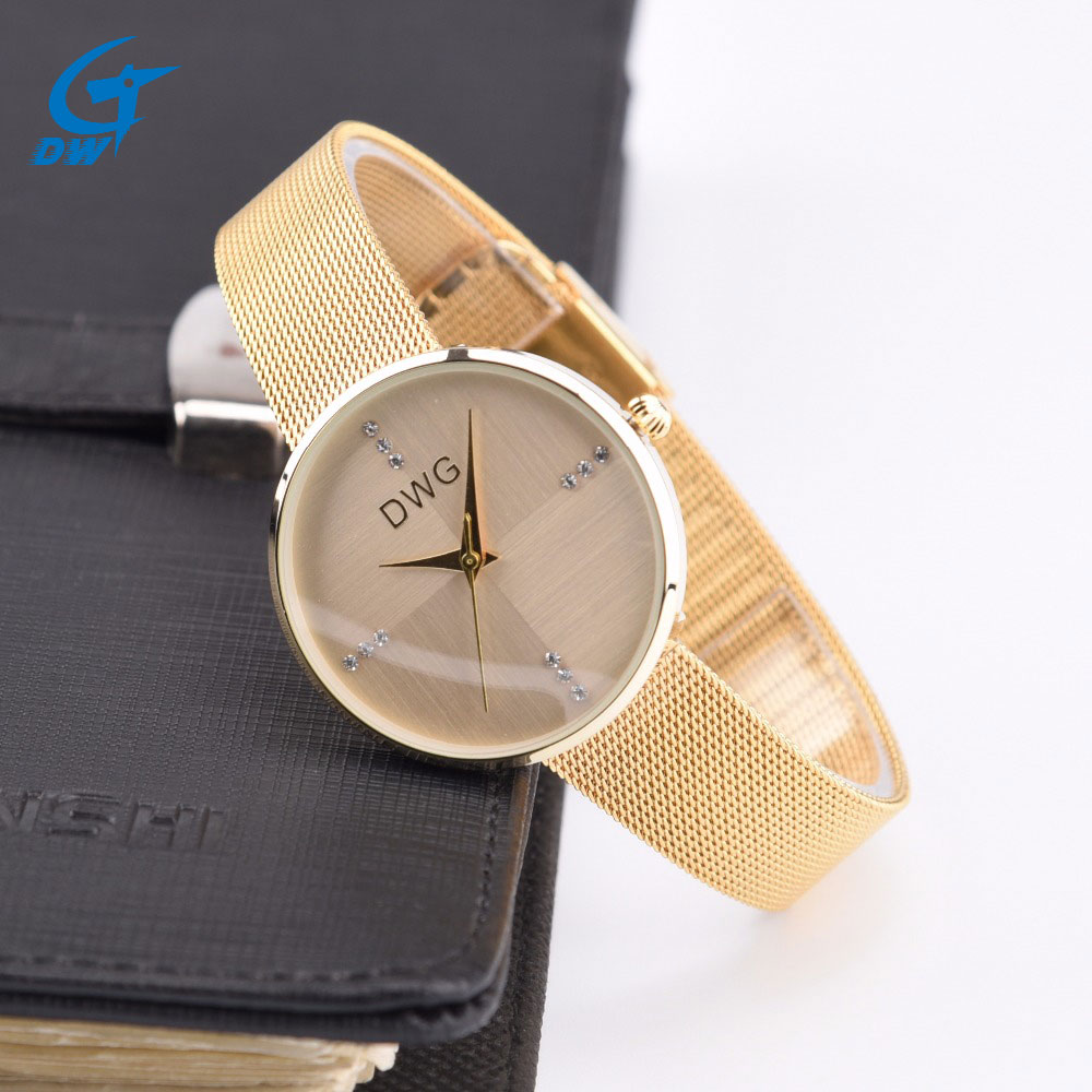 DWG Luxury Brand Women Quartz Watch Fine Band Women Dress