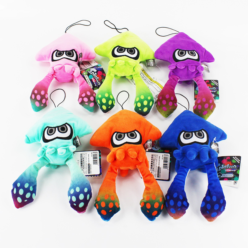 25cm 6 Colors Splatoon Inklings Squid Plush Toys Squid Inkling Stuffed kids Pendant Doll for Children