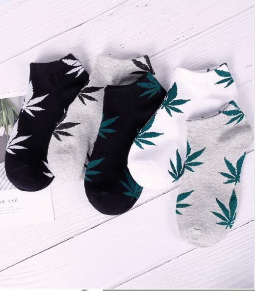 Weed Leaf Cotton socks