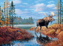 Full round drill 5D DIY Diamond embroidery Moose Marsh  Painting Cross Stitch Rhinestone Mosaic decoration