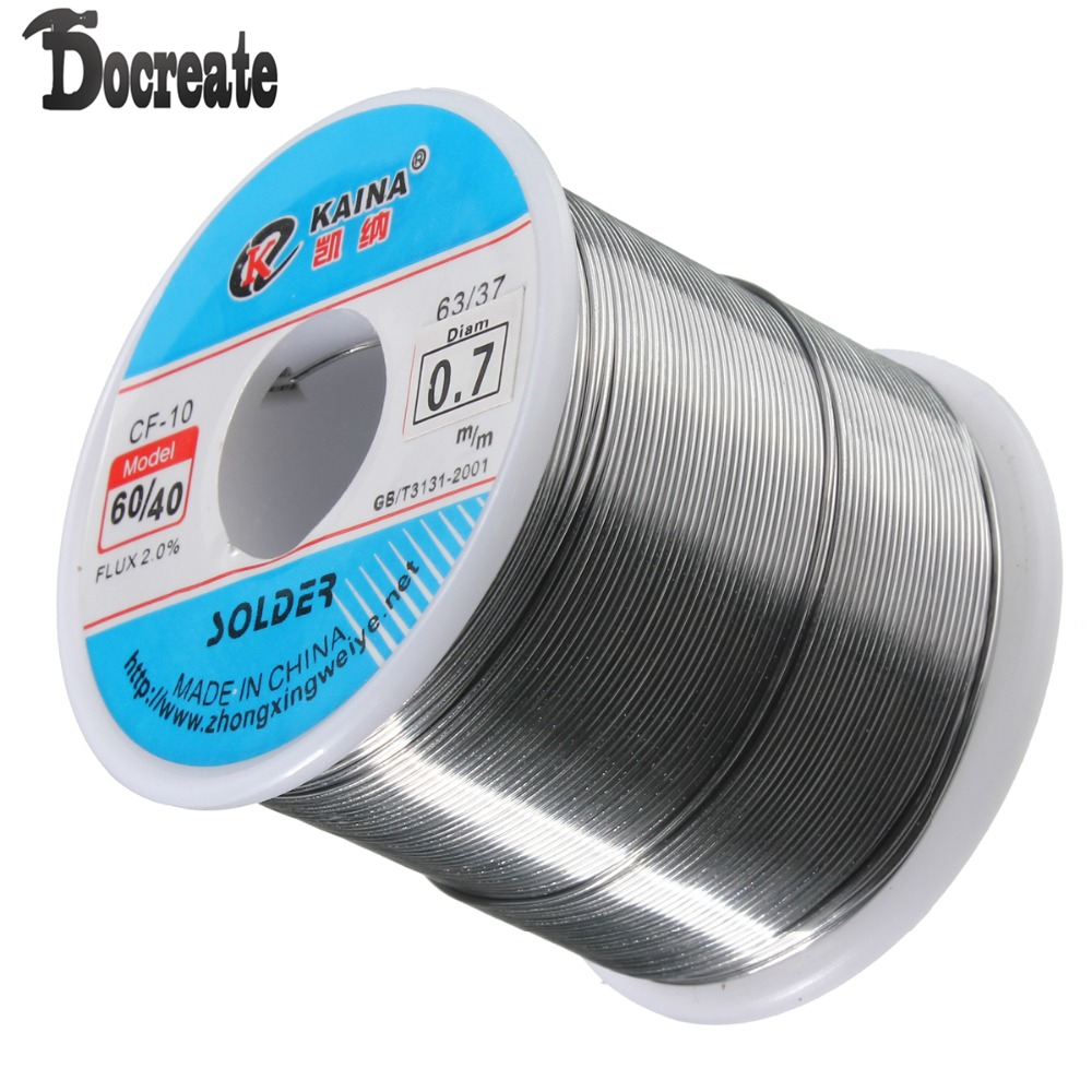 купить 0.7mm 500g Soldering Wires Welding Iron Rosin Core 60/40 Lead Tin Flux 2.0 Percent по цене 1025.1 рублей