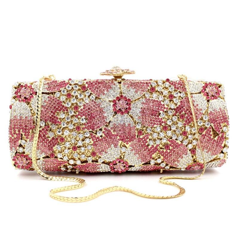 BL024 Luxury diamante evening bags octagon colorful clutch bags women party purse bags crystal sacoche pochette handbags