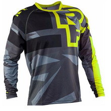 Mens New Downhill Jersey Mountain Bike Motorcycle MTB DH  Motocross Three-quarter Sleeve Shirt Ciclismo Clothes