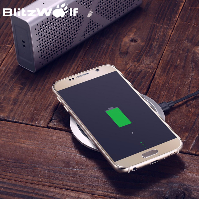 BlitzWolf Qi Wireless Charger Desktop Mobile Phone Charger 9V Fast Charging Pad For Samsung S7 S6 Edge Smart Phones Chargers