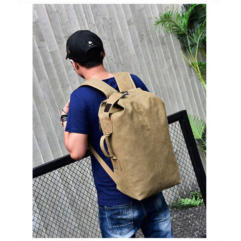 Large Capacity Backpack Man Mountaineering Male Outdoor Travel Luggage Bags Boys Canvas Bucket Shoulder Bags Men Backpacks S/L 10