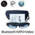 Esporte câmera óculos óculos óculos de óculos de sol sem fio bluetooth apoio tf cartão gravador de vídeo dvr dv mp3 fone de ouvido