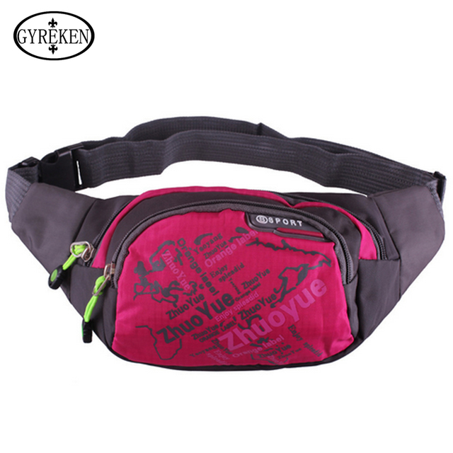 2016 New Stylish Fashion Style Nylon Women Waist Packs Fashion High Quality Casual Belt Bags For Female Black Blue Purple ZC075