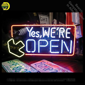 Neon Sign For yes We Open Real Glass Tubes Until the end Lamp neon Windows light custom Brand LOGO Handmade neon signs for sale